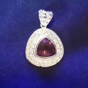 Jewelry - 925 Silver Plated Triangle Shaped Pendant